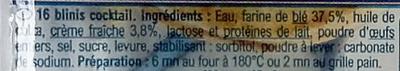 16 Minis Blinis Extra - Ingrédients