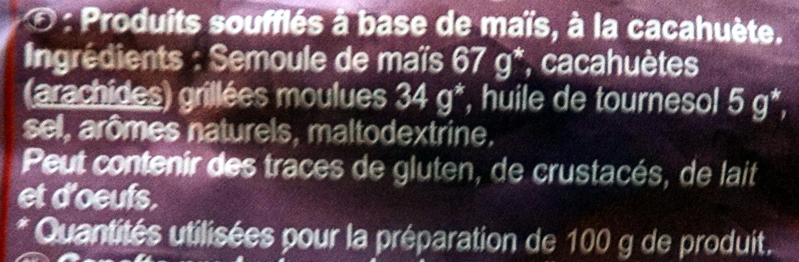 Croustillants à la Cacahuète - Ingrediënten - fr