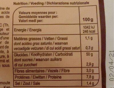 Mini baguette - Nutrition facts - fr