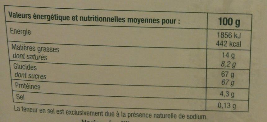Chardons  liqueurs assorties - Informations nutritionnelles - fr