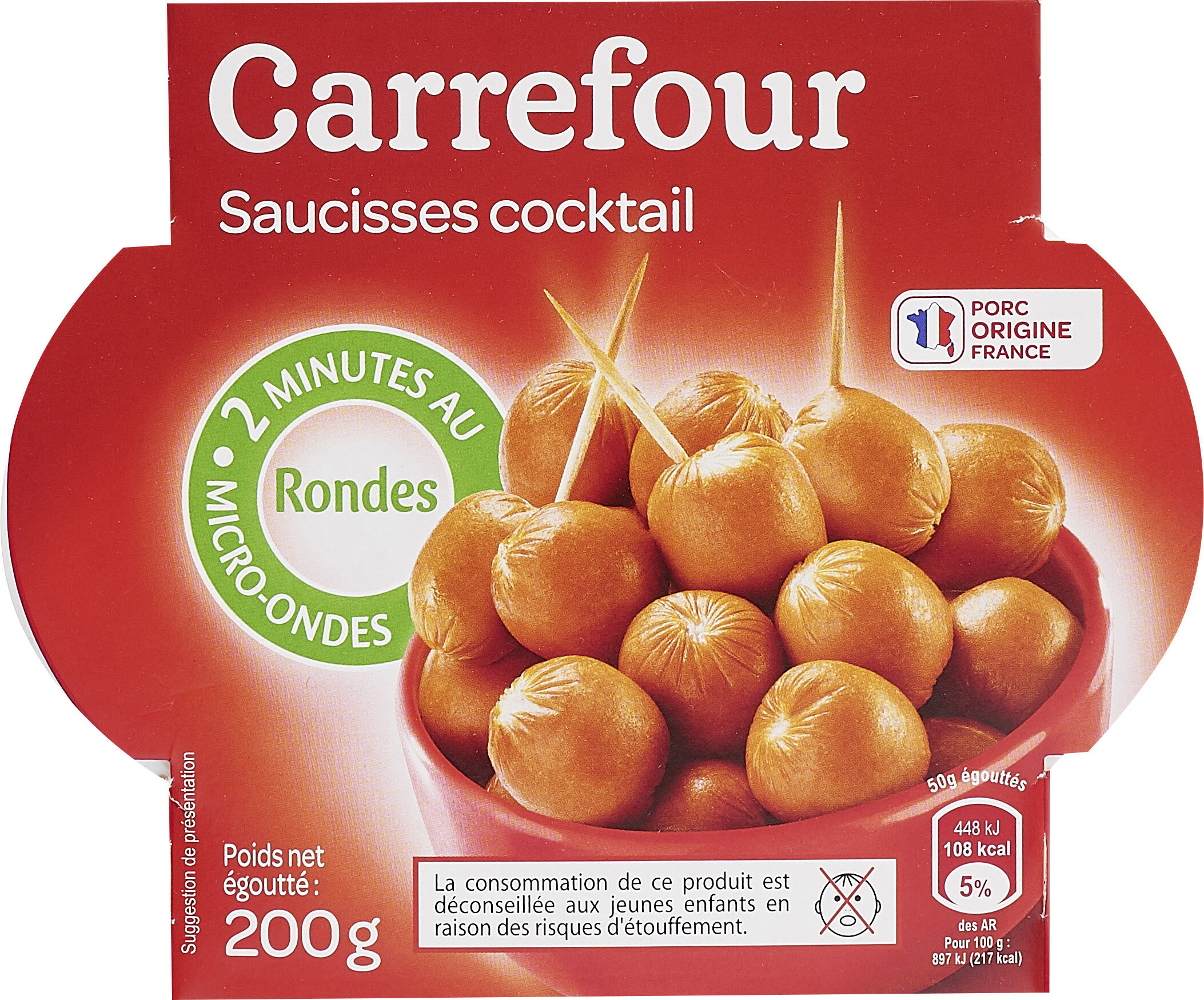 Saucisses Cocktail rondes - Product - fr