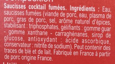 Saucisses Cocktail rondes - Ingredienti