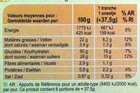 Gateau Marbré aux Pépites de Chocolat - Nutrition facts - fr
