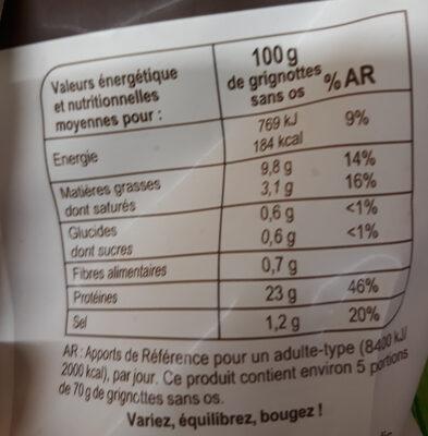 Grignottes de poulet Roties - Voedingswaarden - fr