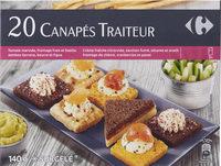 20 Canapés traiteur - Produit - fr
