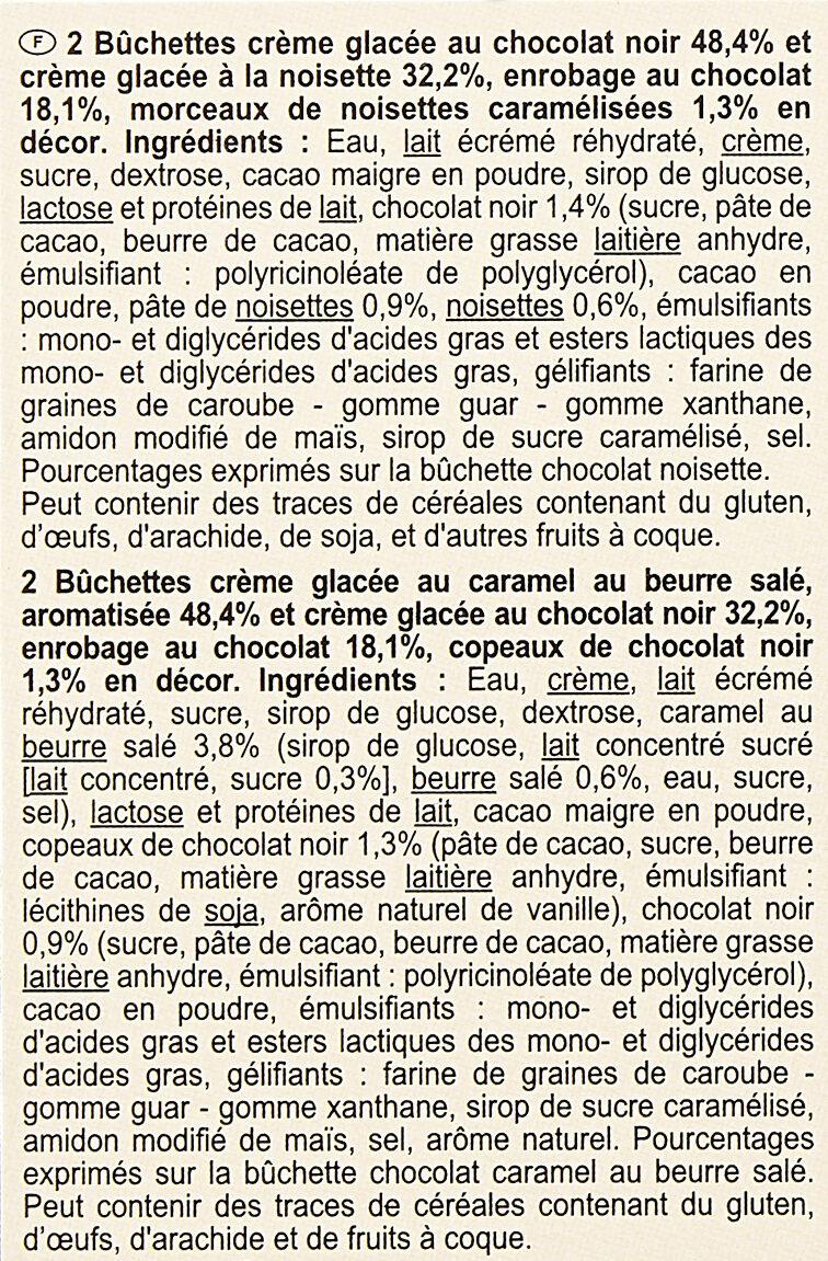 Bûchettes glacées - Ingredients - fr