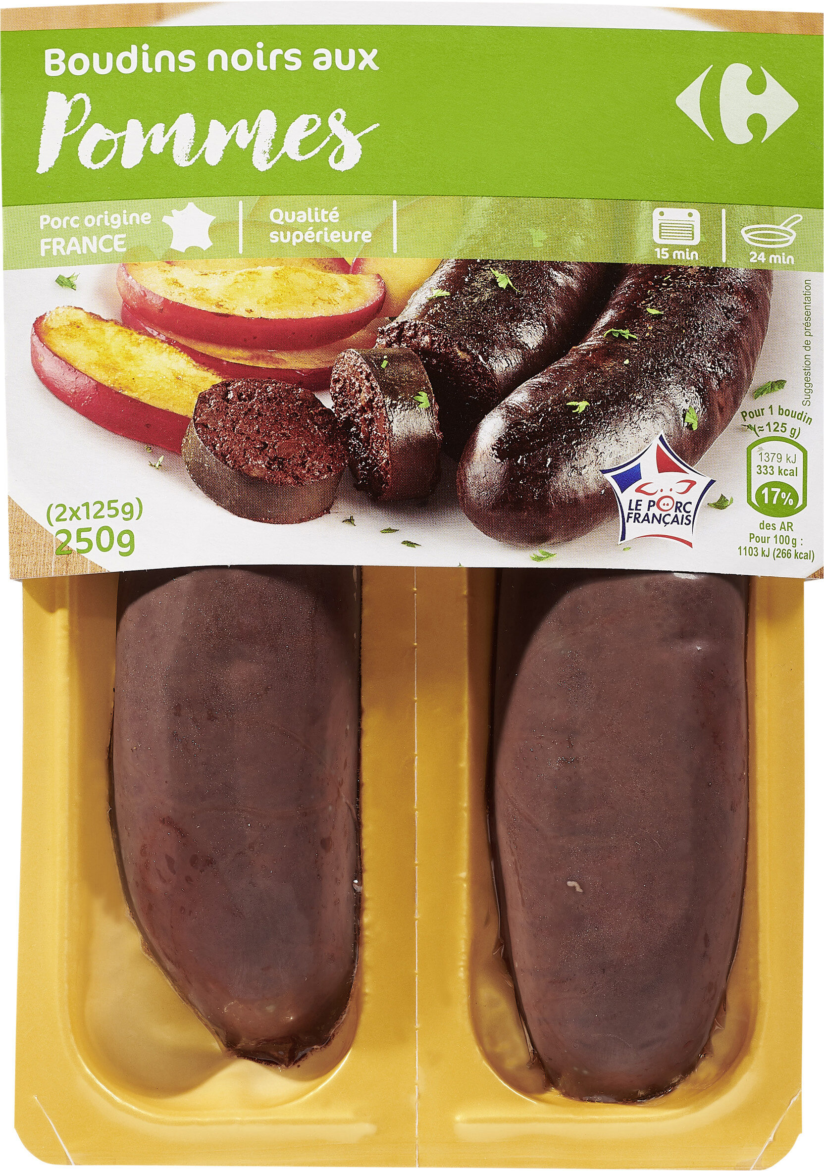 Boudins noirs aux Pommes - Product - fr