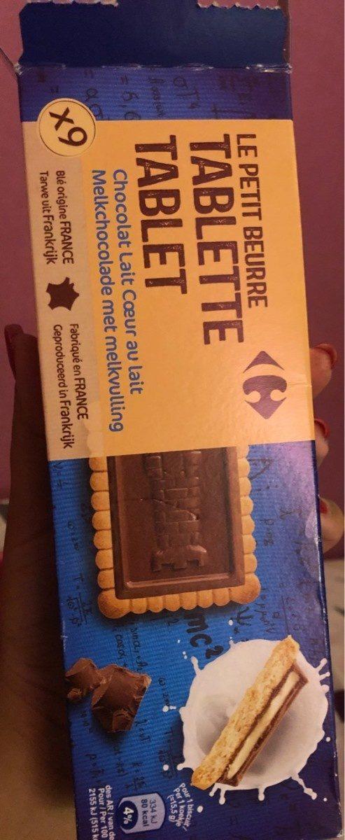 Le petit beurre  tablette chocolat lait  cœur au lait - Product - fr