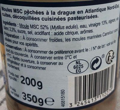 Moules marinées - Ingredienti - fr