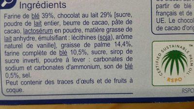 Sable chocolat lait - Ingrédients