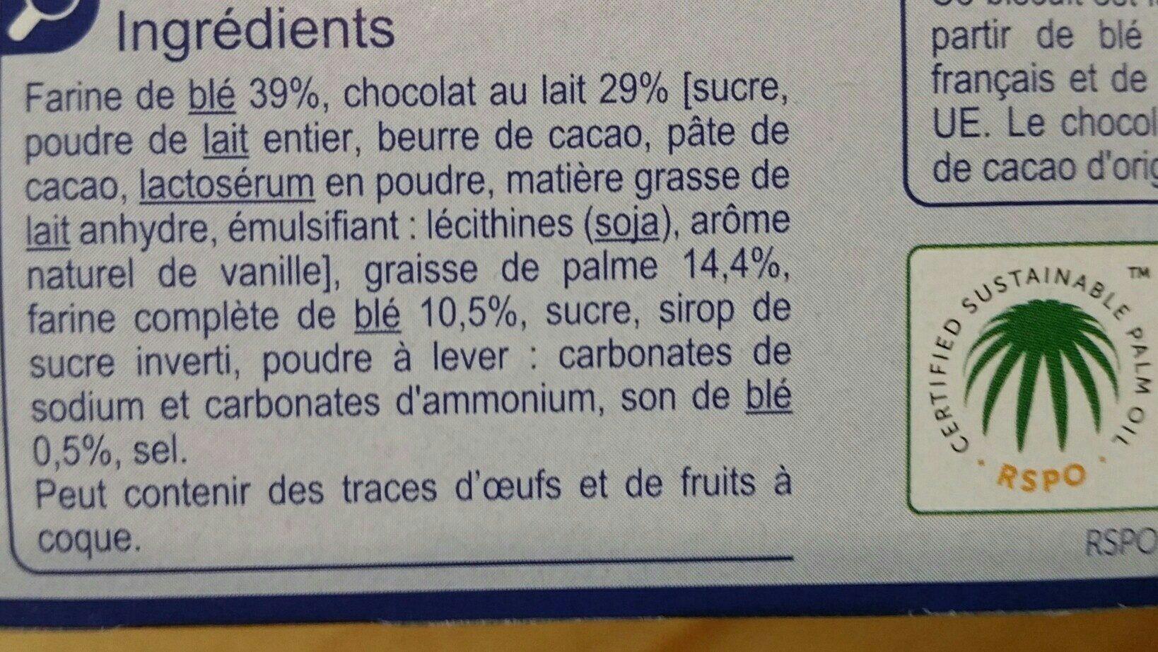 Sable chocolat lait - Ingrédients - fr
