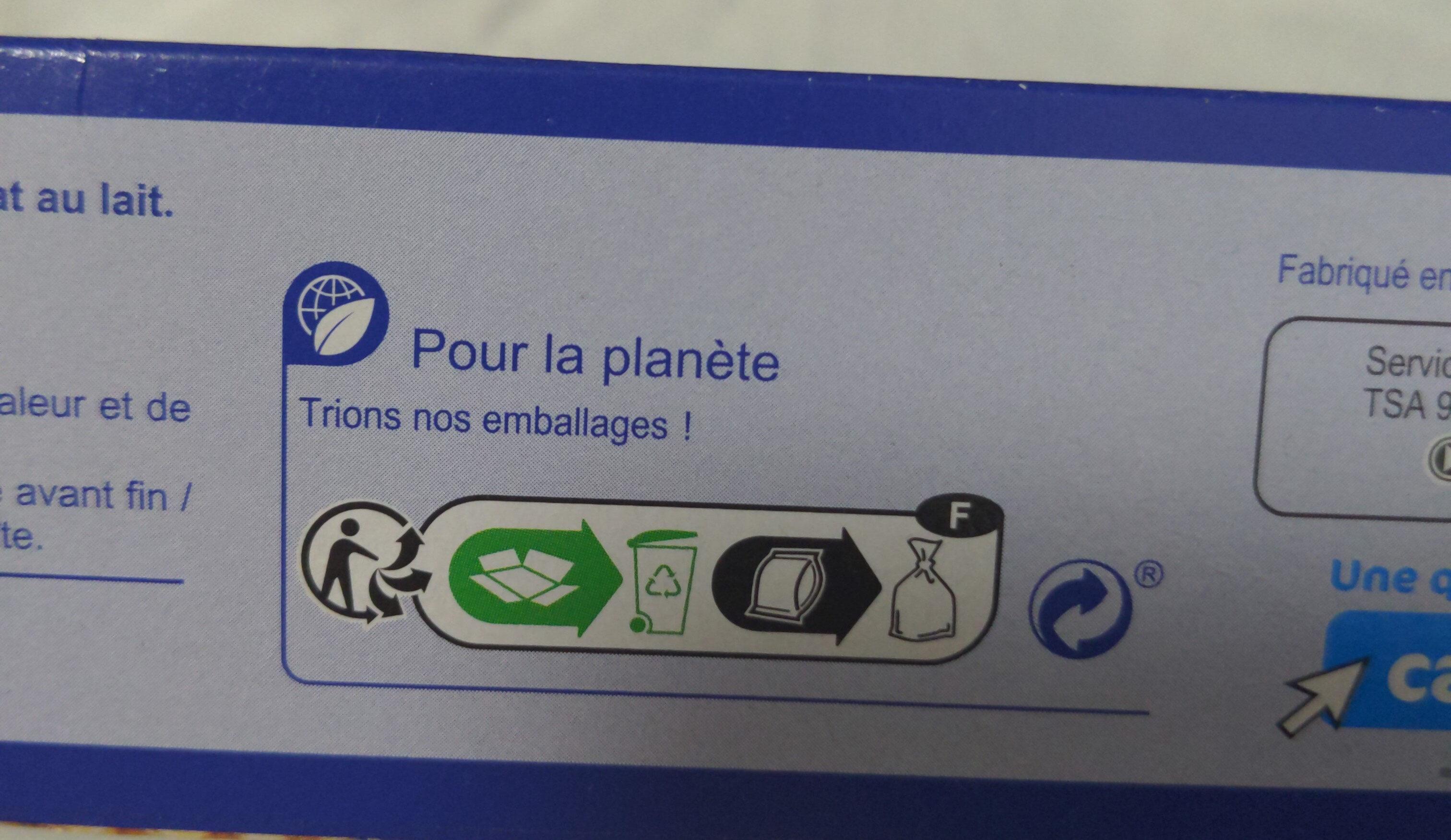 Sable chocolat lait - Instruction de recyclage et/ou informations d'emballage - fr