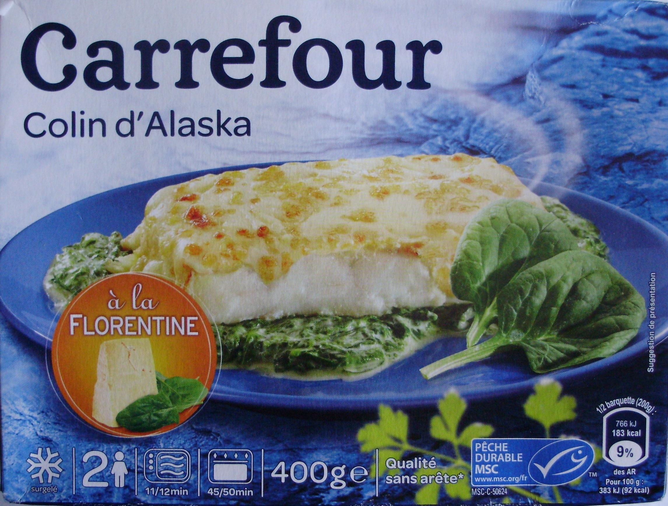 Colin d 39 alaska la florentine surgel carrefour 400 - Cuisiner du colin surgele ...