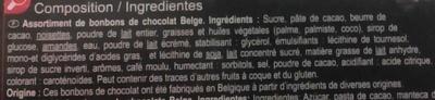 Assortiment de chocolats - Ingrédients - fr