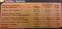 Assortiment de chocolats - Informations nutritionnelles - fr