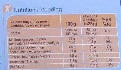 Le Petit Beurre Tablette - Chocolat Blanc - Nutrition facts - fr