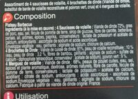 Plateau barbecue volaille - Ingredients - fr