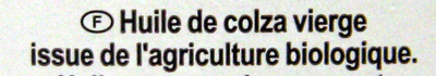 Huile vierge de colza - Ingredients - fr