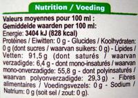 Huile vierge de colza - Nutrition facts - fr