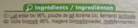 Yaourts nature au lait entier x12 Bio Carrefour - Ingredientes - fr