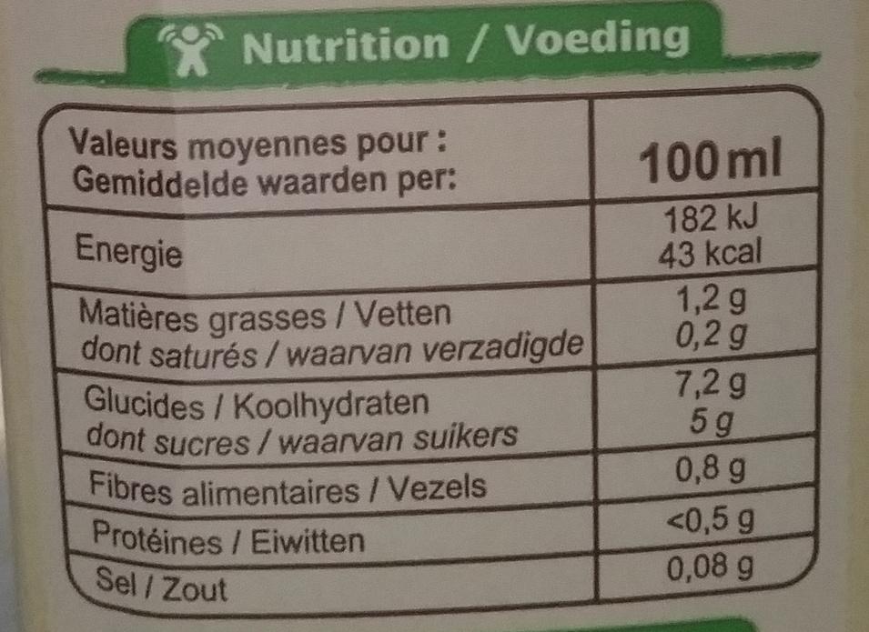 Boisson avoine - Voedingswaarden - fr