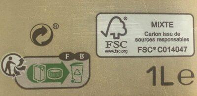 Boisson avoine - Instruction de recyclage et/ou information d'emballage - fr
