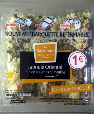 Taboulé Oriental duo de poivrons et menthe - Product - fr