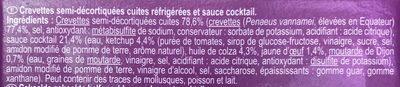 Crevettes avec sauce Cocktail - Ingrediënten - fr