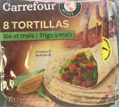 Tortillas blé et mais - Produit - fr