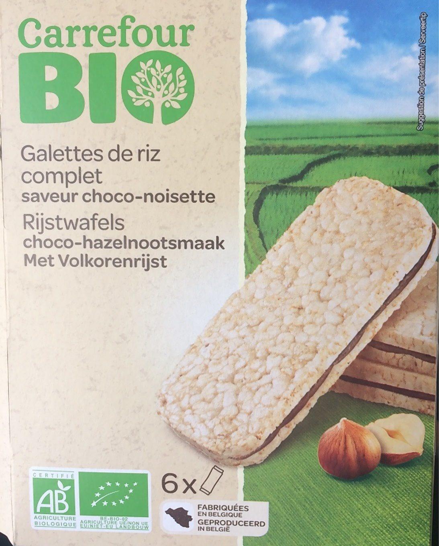 Galettes de riz complet goût choco-noisettes - Produit - fr