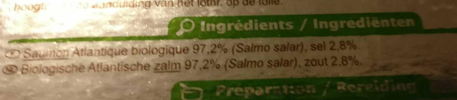 Saumon fumé bio - Ingredienti - fr