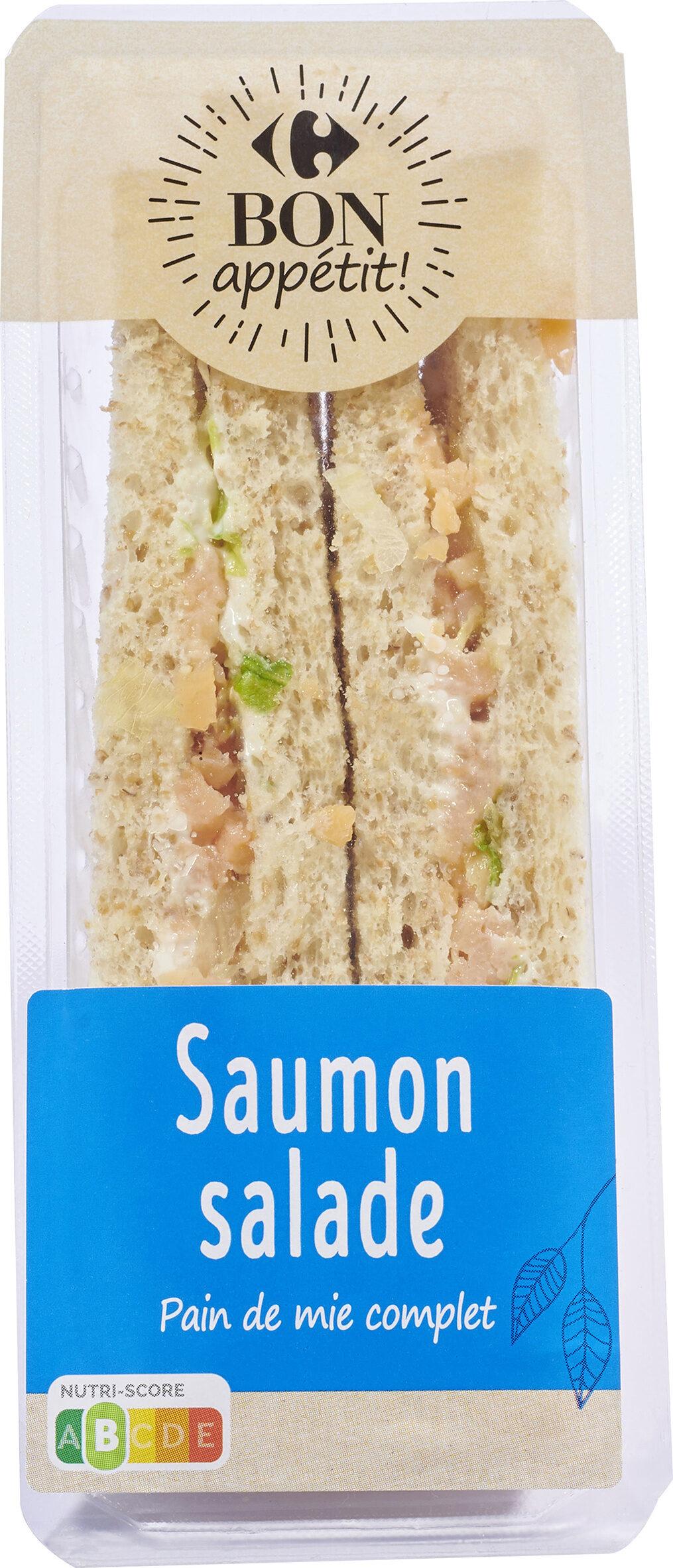 Saumon Salade Pain de mie complet bon appétit - Produit - fr