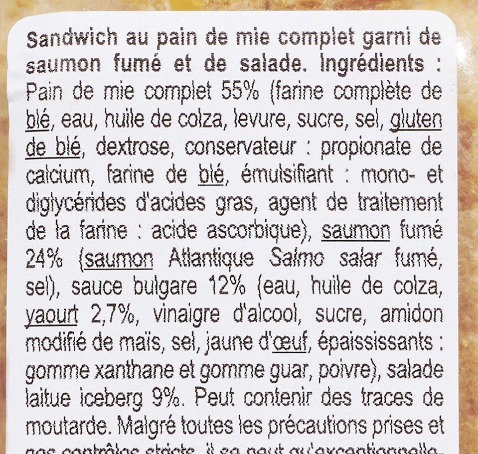 Saumon Salade Pain de mie complet bon appétit - Ingrédients - fr