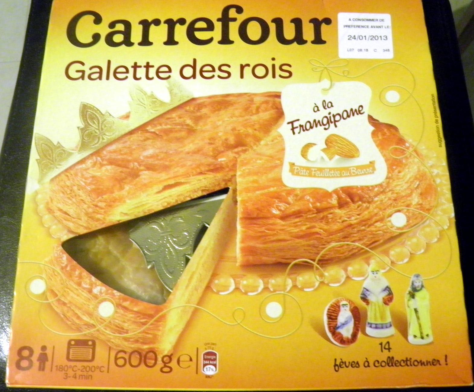 Galette des rois carrefour la frangipane 600 g for Galette des rois a la frangipane