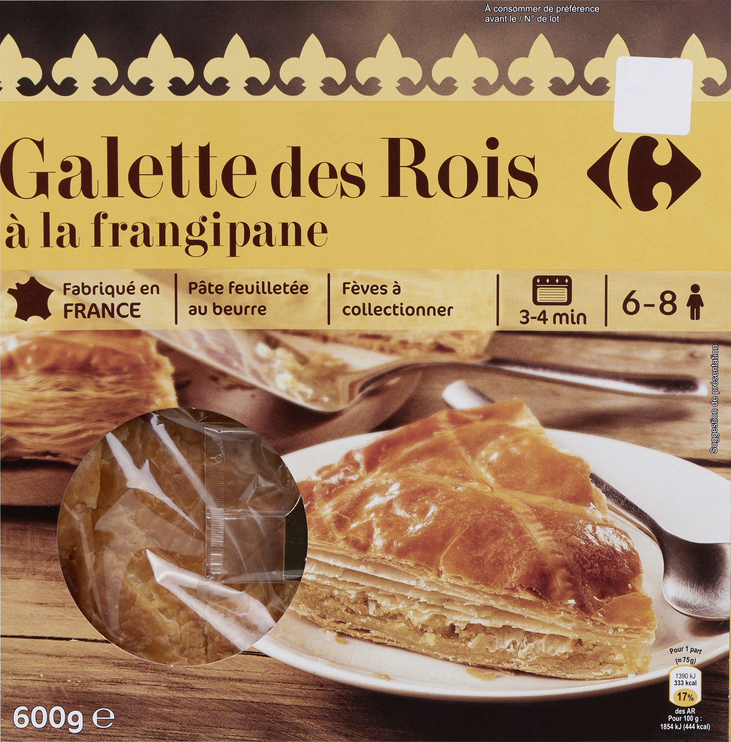 Galette des rois à la frangipane - Product - fr