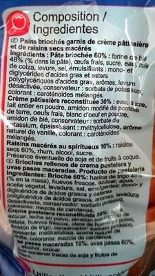Pains briochés aux raisins - Ingredients