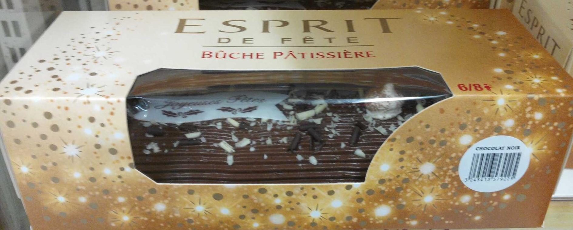 Bûche pâtissière chocolat noir - Produit
