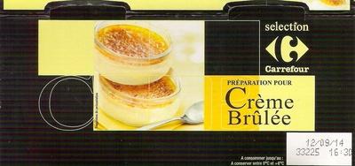 Préparation pour crème brûlée - Produit - fr