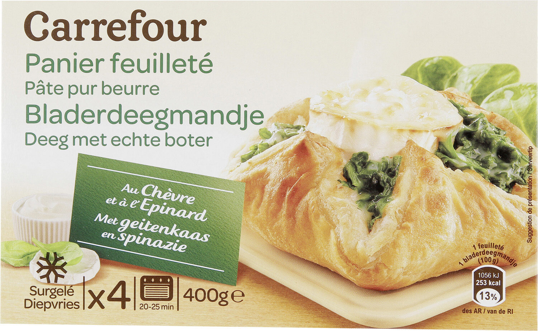 Panier feuilleté au chèvre et à l'épinard - Product - fr