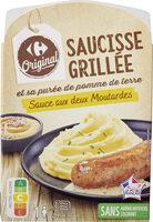 Saucisse et sa purée, sauce aux 2 moutardes - Product - fr