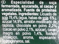 Soja chocolat - Ingredientes - es