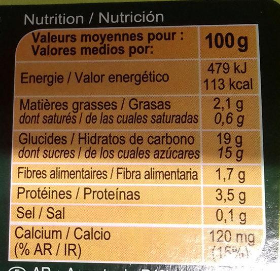 Soja chocolat - Información nutricional - es