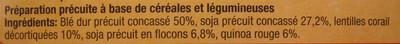 Mélange de céréales & légumes secs (Blé, soja, lentilles corail, quinoa rouge) - 2