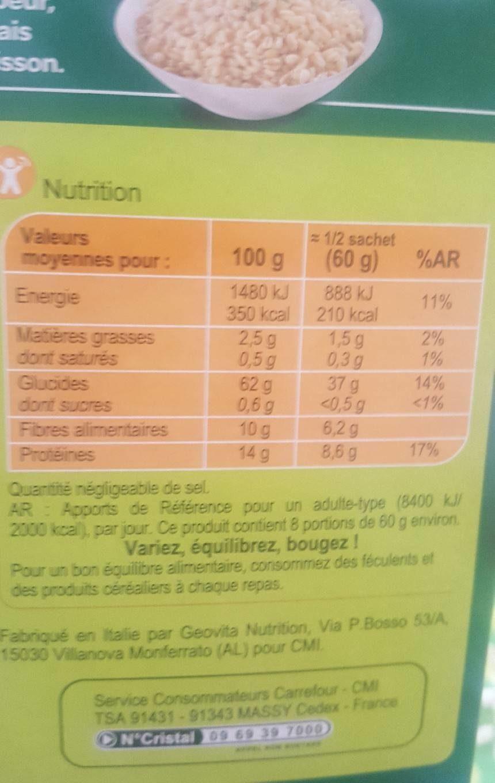 Blé Délicat - Nutrition facts