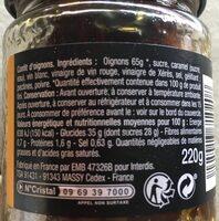 Confit d'oignons cuit au chaudron - Voedingswaarden - fr