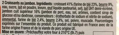Croissants au jambon - Ingrédients - fr