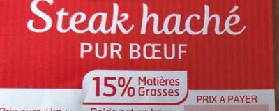 Steak Haché 15% MG - Ingredients