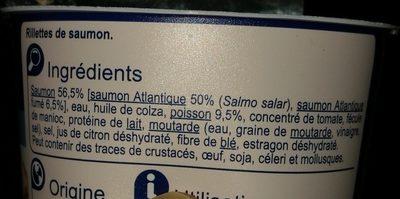 Rillettes de Saumon - Ingrédients - fr