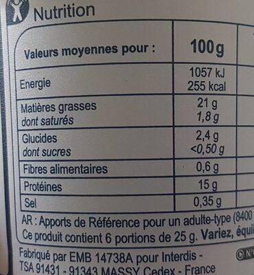 Rillettes thon - Informations nutritionnelles - fr