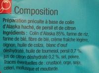 Hachés de la mer Colin Citron et Persil - Ingredients - fr